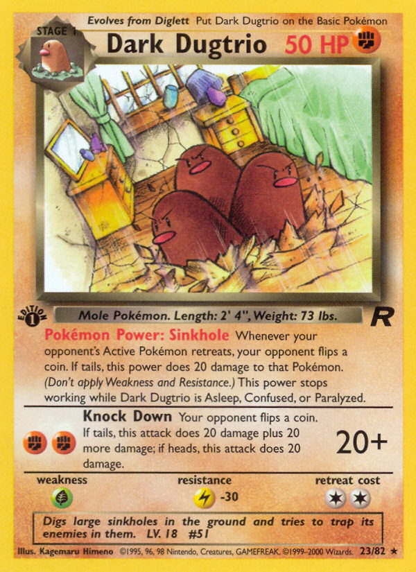 2000 Team Rocket Dark Dugtrio 1st Edition