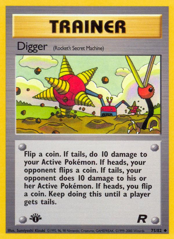 2000 Team Rocket Digger 1st Edition