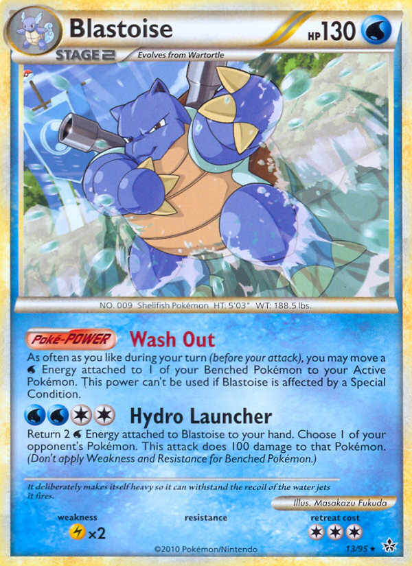 2010 Unleashed Blastoise Prerelease-Staff  Holo