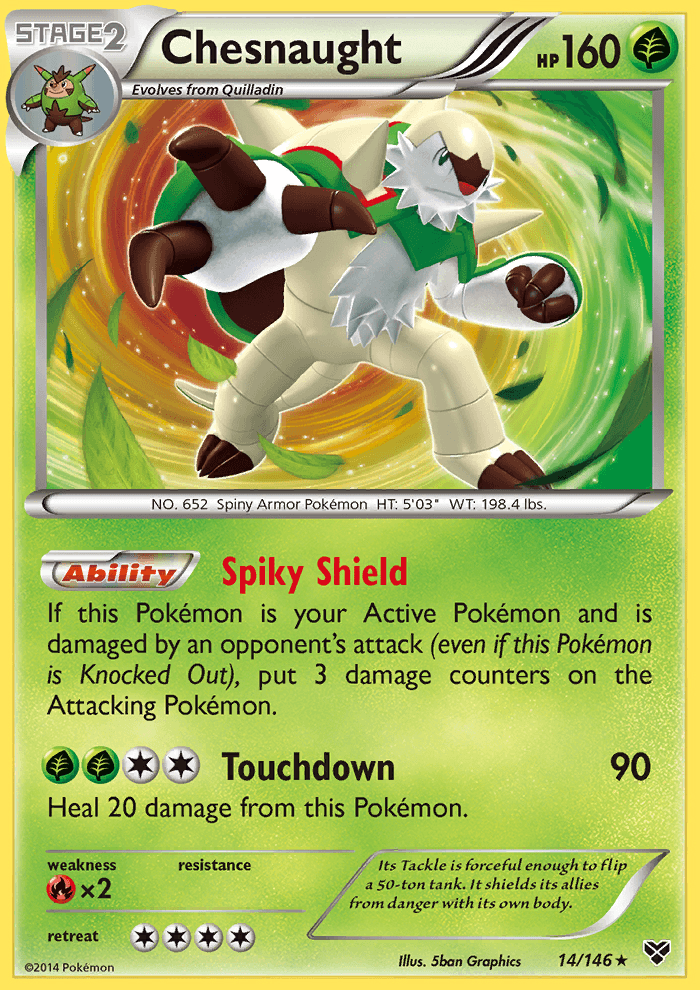 2014 XY Chesnaught   Holo